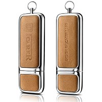 Флеш-накопитель i-Carer 16Gb USB Genuine Leather Portable Flash Drive (IUP0001khaki) Хаки
