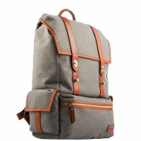 Рюкзак i-Carer 420x350x170mm Leather and Fabric Durable Travel Hiking Backpack (RSJ-01-B1grey) Серый