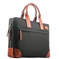 "Кейс для ноутбука до 13"" i-Carer 395x280x70mm Protective Simple Tablet Laptop Bag (Fabric+Leather) (RDN-04-B1) Черный"