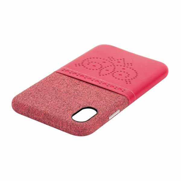 "Чехол-накладка XOOMZ для iPhone XS/ X (5.8"") Brogue Series Card Slot Back Cover (XIX24) Красный"