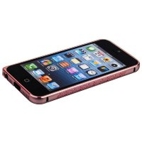 Бампер металлический iBacks Colorful Arc-shaped Bodhi Bumper for iPhone SE/ 5S/ 5 - pink edge (ip50286) Pink Розовый, с узором