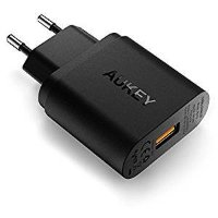 Сетевая зарядка Aukey USB Quick Charge 3.0 USB 18 Вт для iPhone XS Max,XR,X,8,8+, Galaxy S9,Note9,S8,S8+, PA-T9 (Черный цвет)